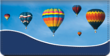 Hot Air Balloons Checkbook Cover