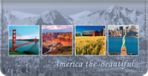 America the Beautiful Checkbook Cover