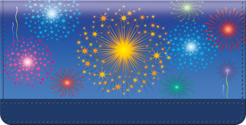 Fireworks Checkbook Cover