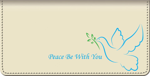 Peace be with You Checkbook Cover