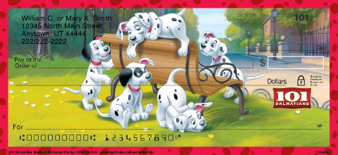 101 Dalmatians Personal Checks