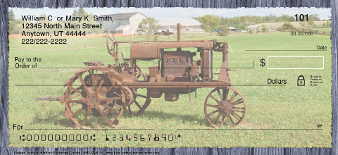 Vintage Tractors Personal Checks