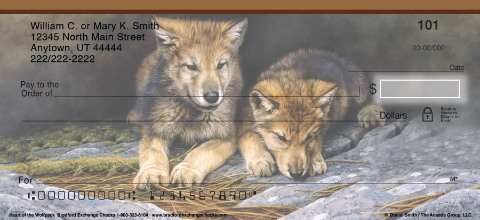 Heart Of The Wolf Pack Personal Checks