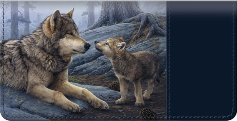 Heart of the Wolf Pack Checkbook Cover