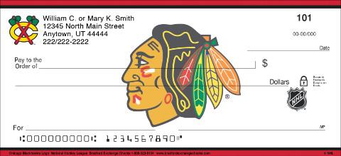 Chicago Blackhawks Logo NHL Personal Checks