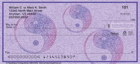 Yin Yang Personal Checks