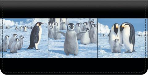 Emperor Penguin Checkbook Cover