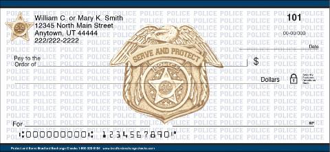 Protect and serve personal checks personal checks for New check designs