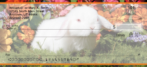 Bunnies Personal Checks