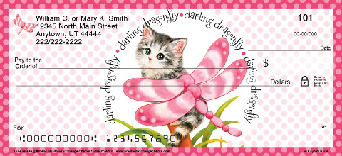 Cute as a Bug Kittens Personal Checks