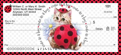 Cute as a Bug Kittens Personal Checks
