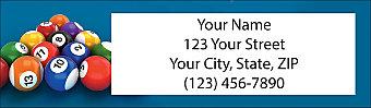 Billiards Return Address Label