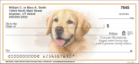 Golden Retriever Best Breeds Personal Checks