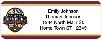 Florida State 2013 National Champions Return Address Label