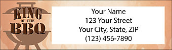 King of the Grill Return Address Label