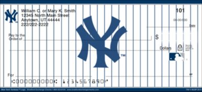 New York Yankees(TM) MLB&reg Logo Personal Checks
