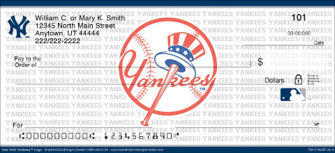 New York Yankees&#153 MLB&reg Logo Personal Checks