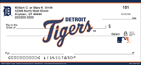 Detroit Tigers(TM) MLB(R) Logo Personal Checks