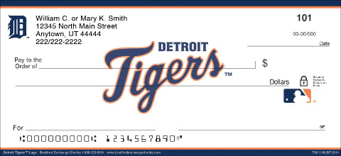 Detroit Tigers™ MLB® Logo Personal Checks