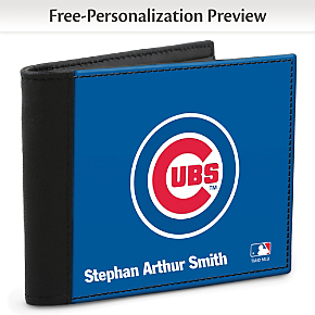 Chicago Cubs(TM) MLB(R) Logo Men's RFID Wallet