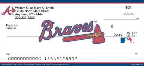 Atlanta Braves(TM) MLB(R) Logo Personal Checks