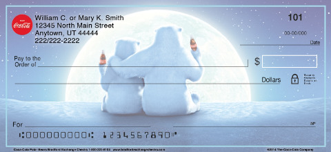 Coca-Cola(R) Polar Bears Personal Checks
