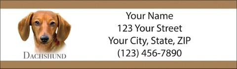 Best Breeds Dachshund Return Address Label