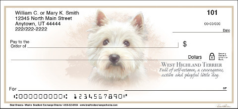 West Highland Terrier Best Breeds Personal Checks