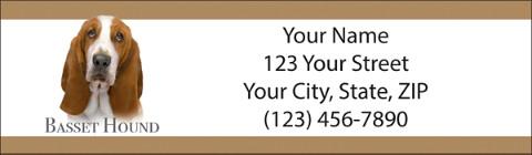 Best Breeds - Basset Hound Return Address Label
