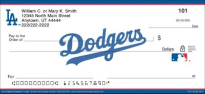 Los Angeles Dodgers(TM) MLB(R) Logo Personal Checks