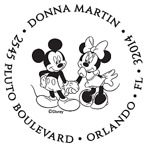 Mickey & Minnie Personalized Image Stamp