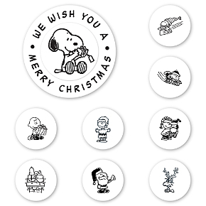 Peanuts Christmas Wishes Peel & Stick Interchangeable Stamps