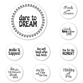 Dare to Dream Peel & Stick Interchangeable Stamp Set 1800851018