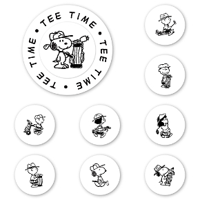 Peanuts Golf Club Peel & Stick Interchangeable Stamp Set