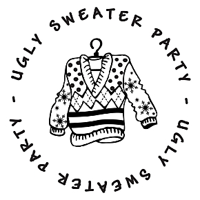Ugly Sweater Gift Tag Stamp