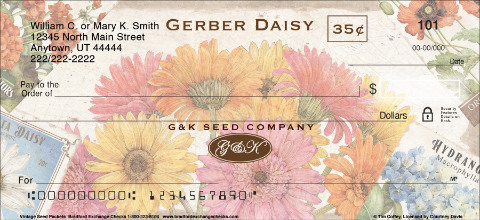 Vintage Seed Packets Personal Checks