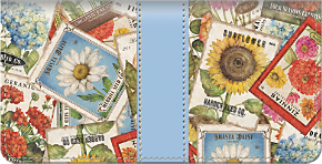 Vintage Seed Packets Checkbook Cover