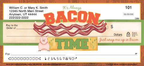Bacon time personal checks personal checks for New check designs