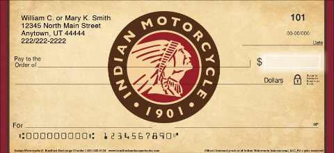 Indian Motorcycle Personal Checks