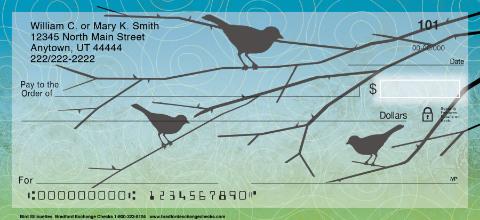 Bird Silhouettes Personal Checks