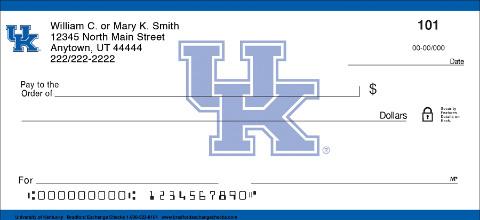 University of Kentucky Personal Checks