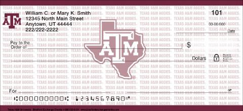 Texas A&M University Personal Checks
