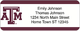 Texas A&M University Return Address Label