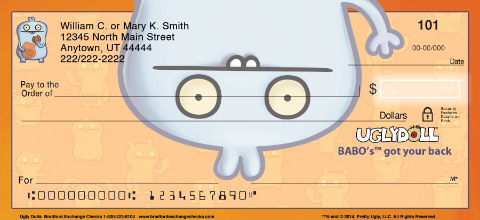 Ugly Dolls Personal Checks