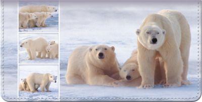 Polar Bears Checkbook Cover