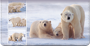 Polar Bears Checkbook Cover
