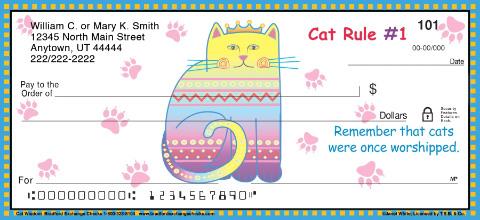 Cat wisdom personal checks personal checks for New check designs