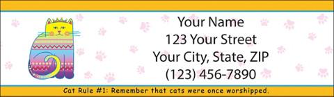 Cat Wisdom Return Address Label