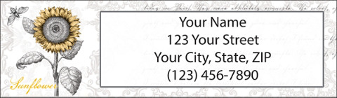 A Touch of Color Return Address Label