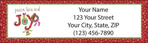 Very Merry Christmas Return Address Label